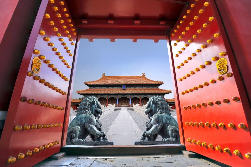 Запретный город в центре Пекина