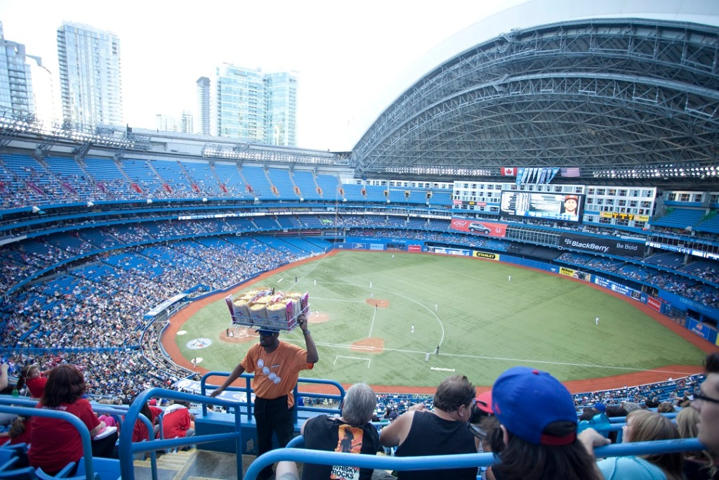 A Blue Jays game in Toronto.