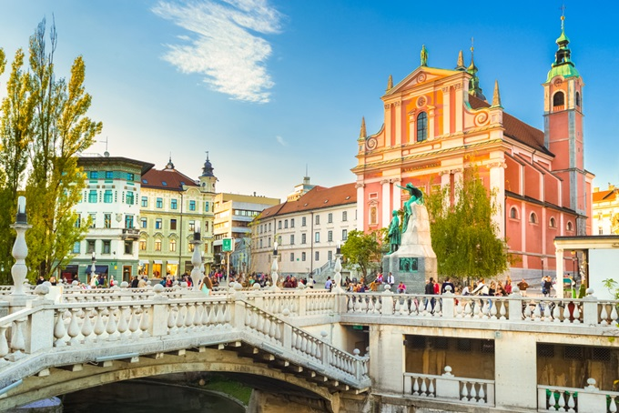 Ljubljana's picturesque Old Town