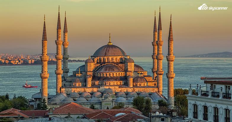 Den blå moske, Istanbul.Find billige flybilletter til Europa. Find billige flybilletter til Istanbul.