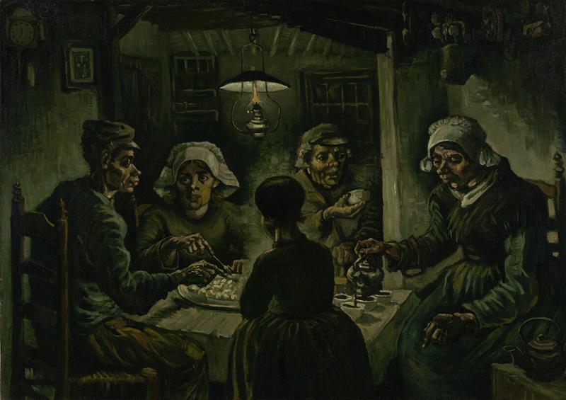 ゴッホの『じゃがいもを食べる人々』