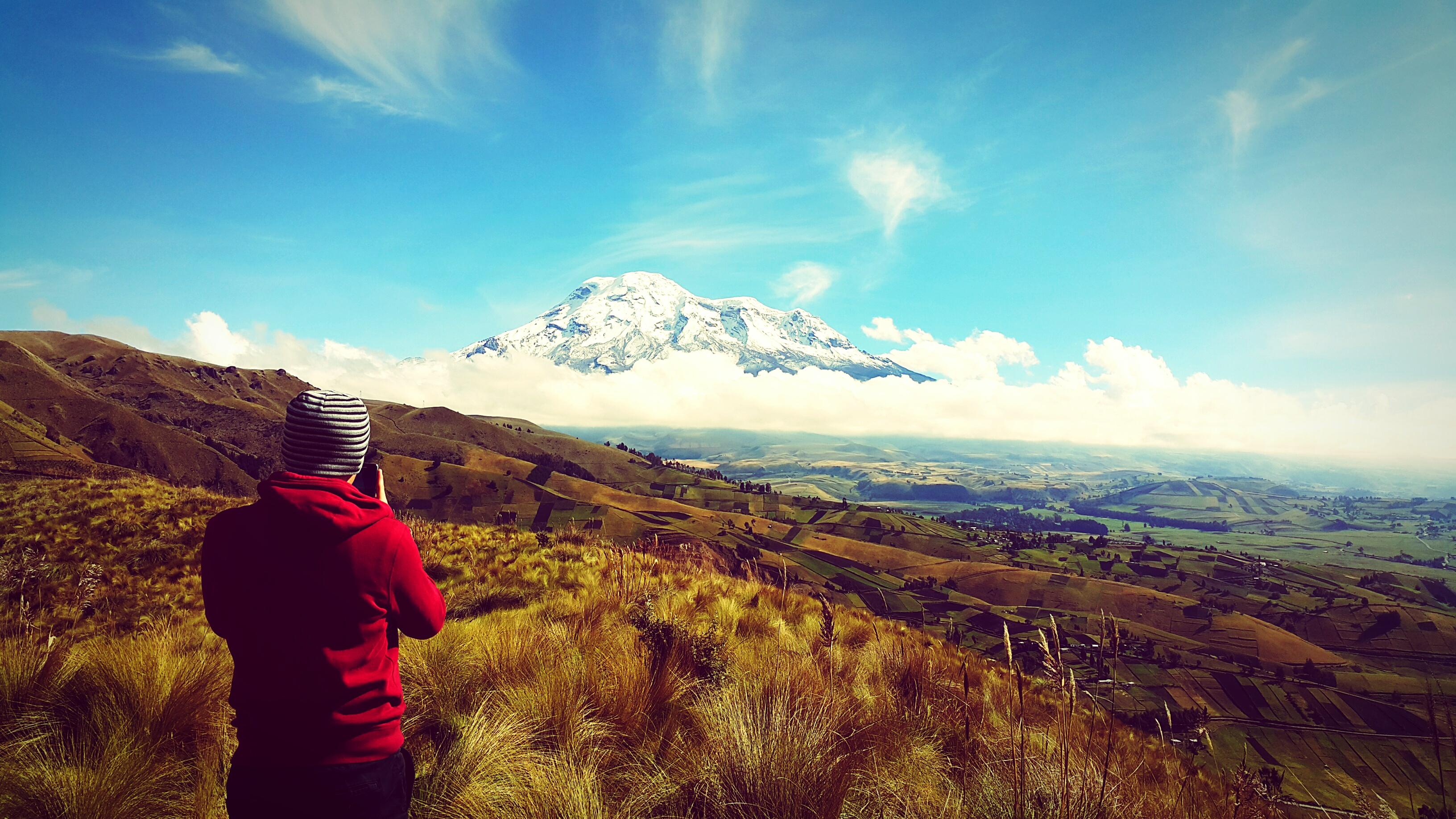 Volcán Chimborazo en Ecuador