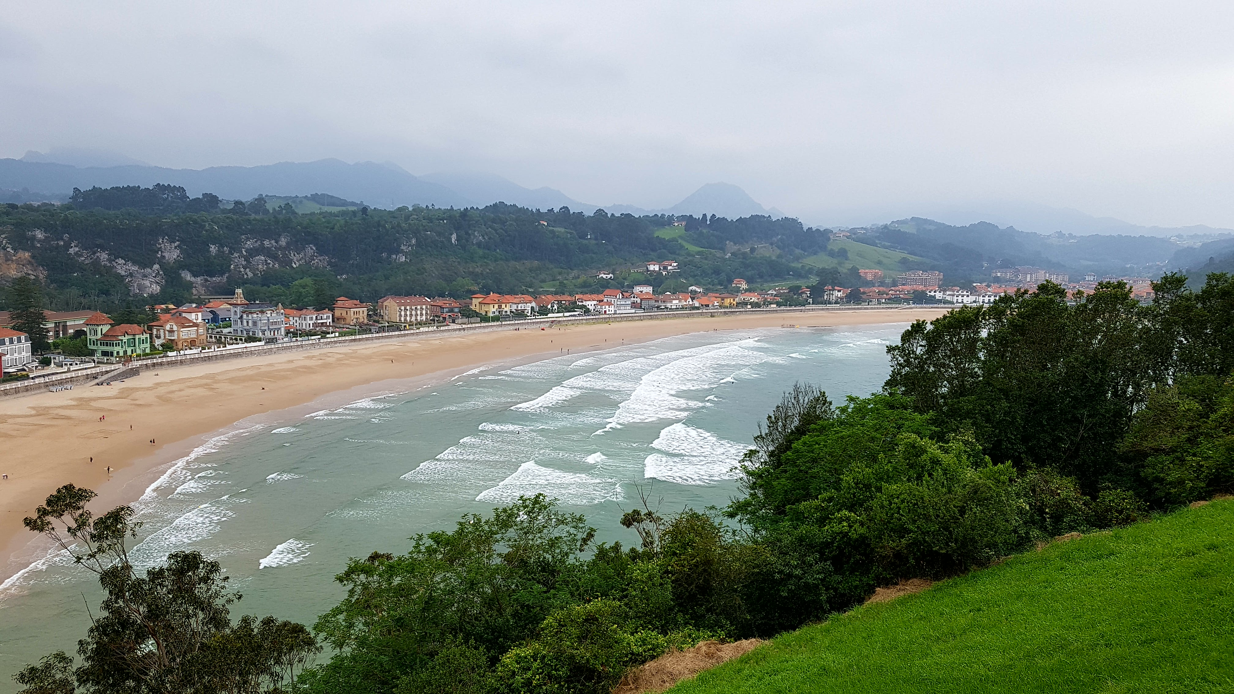 Ribadesella beach Spain