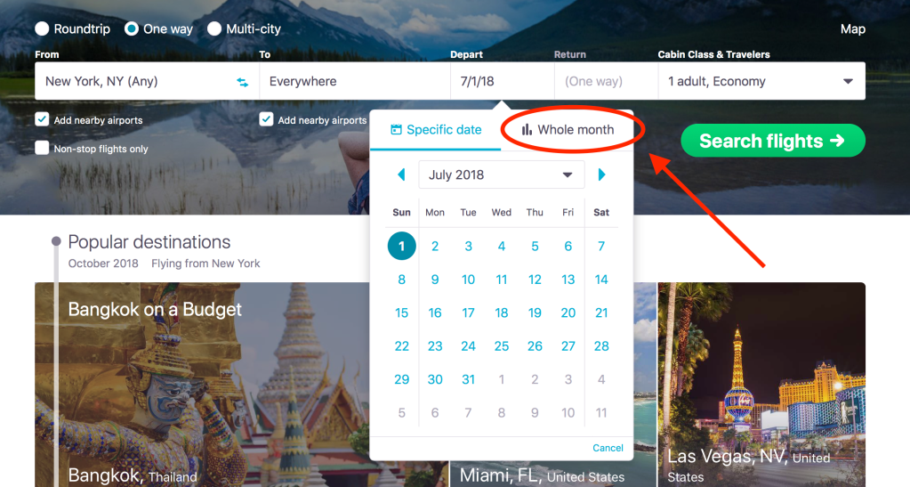 How to Search Flight Prices Across a Whole Month - Skyscanner Canada - Cheap Flights Search Engine for Booking Cheap Flights