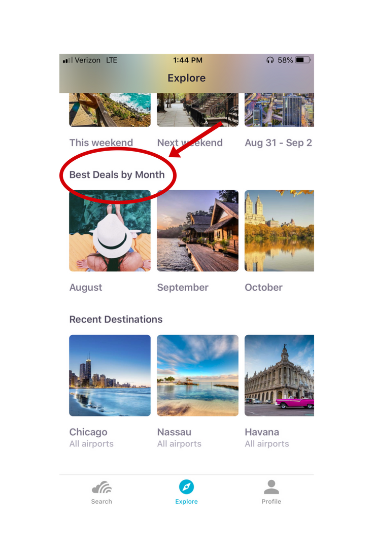 skyscanner mobile app navigation best deals by month