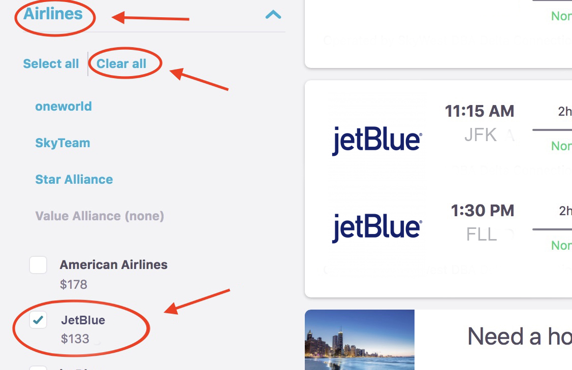 How to Search JetBlue Black Friday and Cyber Monday Flight deals in the  Skyscanner App