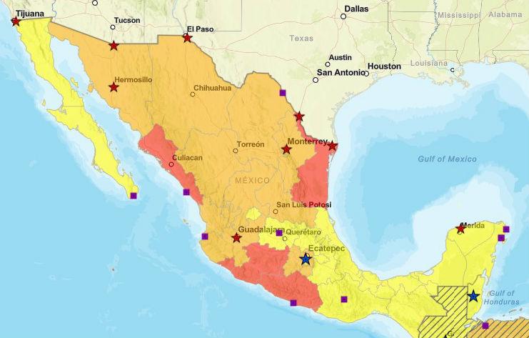 alertas de viaje mexico, mexico alertas de viaje, viaje a mexico, destinos seguros mexico