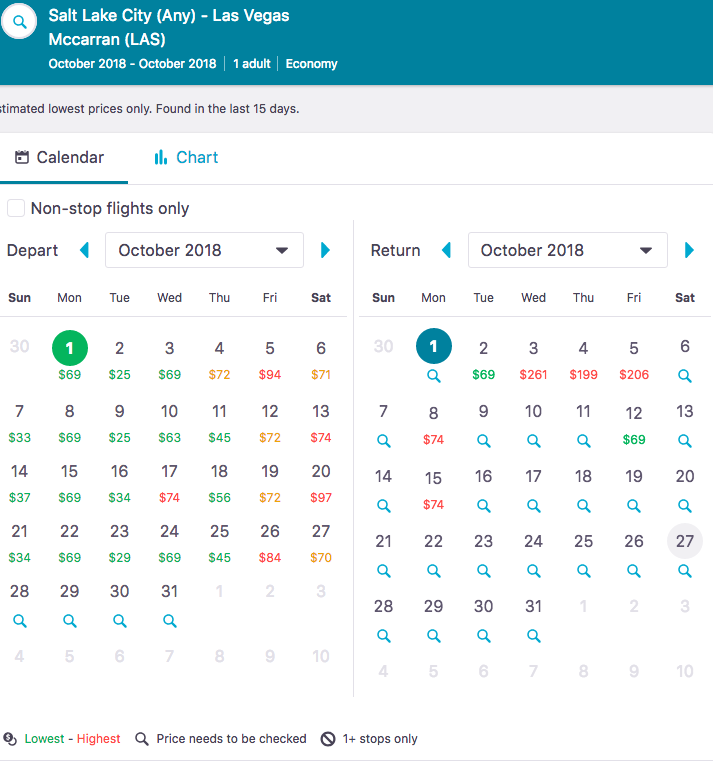 Whole Month View Skyscanner