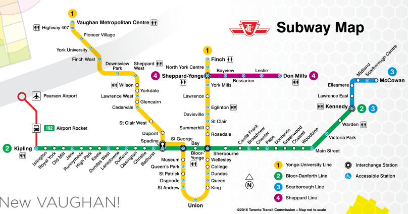 Toronto Subway Map.Ttc In Toronto Explore T O Like A Local Skyscanner Canada