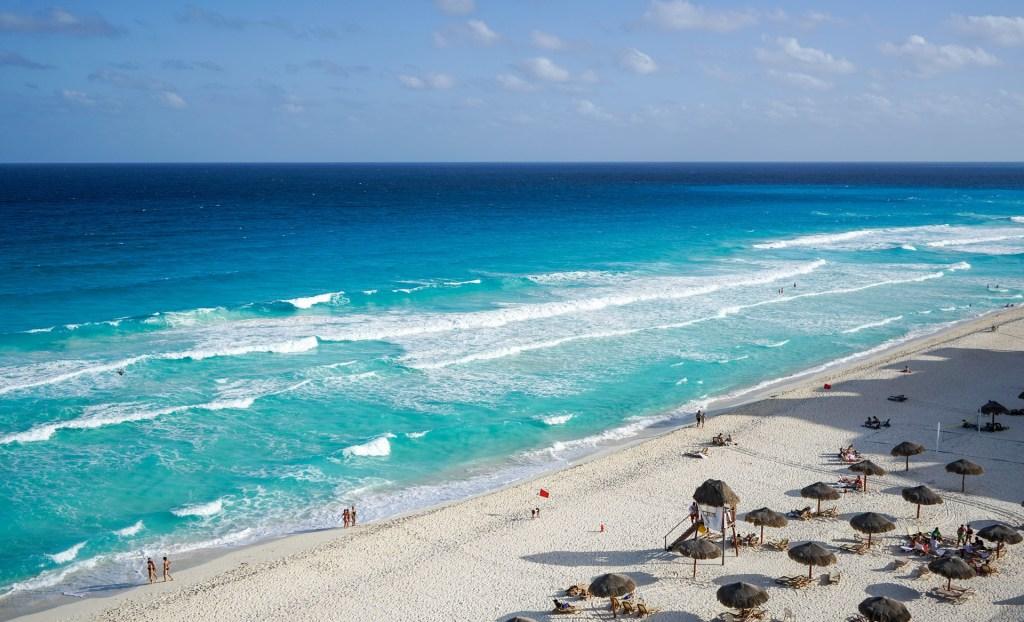 a beach in Cancun Mexico