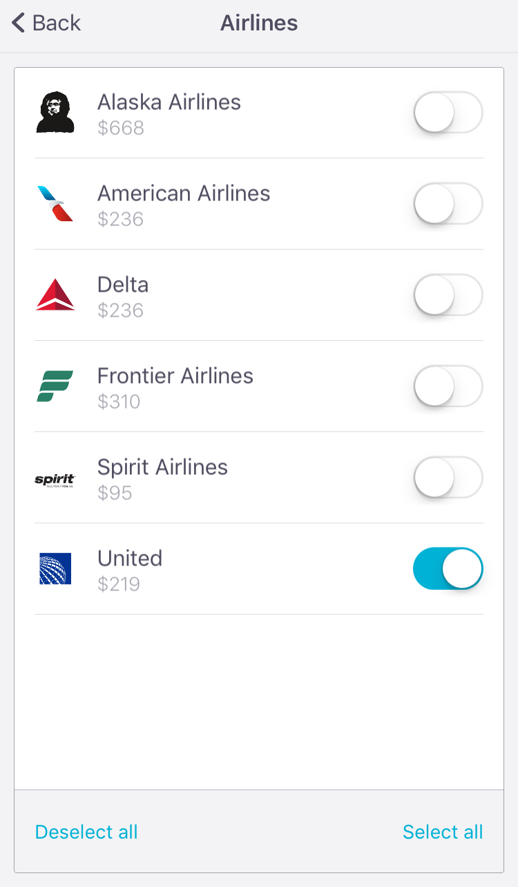 Search Only United Airlines Or Any Combination Of Your Favorites