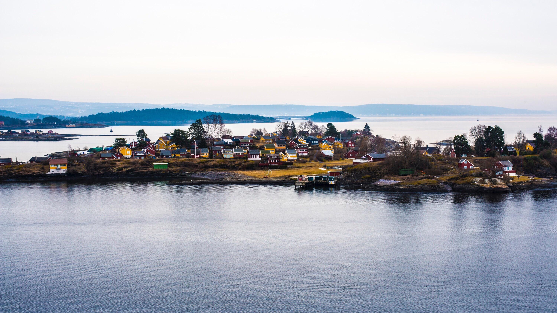 Fiordo de Oslo en Noruega