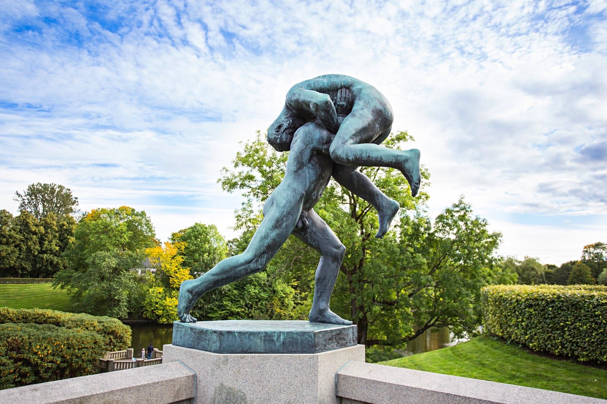 Parque Vigeland en Oslo, Noruega