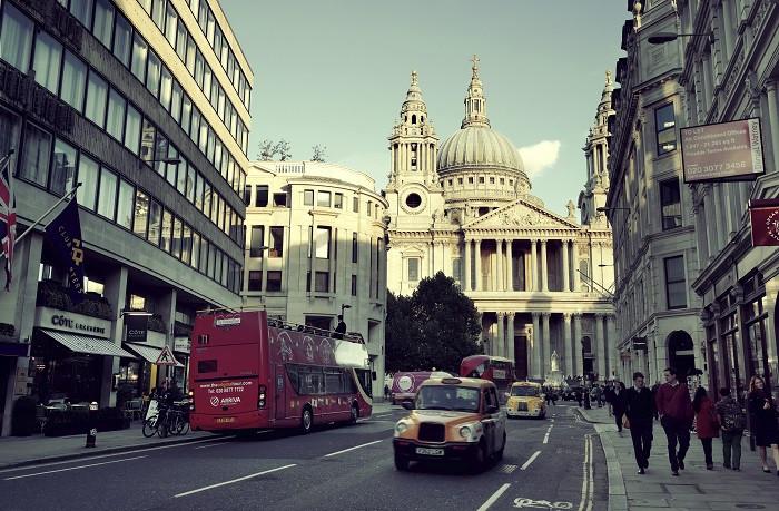 Gatubild i London
