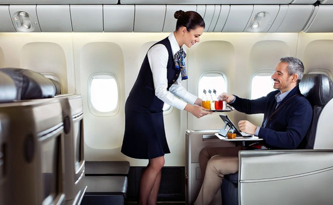Get the royal business class treatment