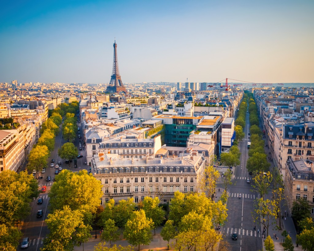 View of Paris with the Eiffel Tower in the background as a Top Summer European Vacation. Luxury in Paris | Skyscanner Canada