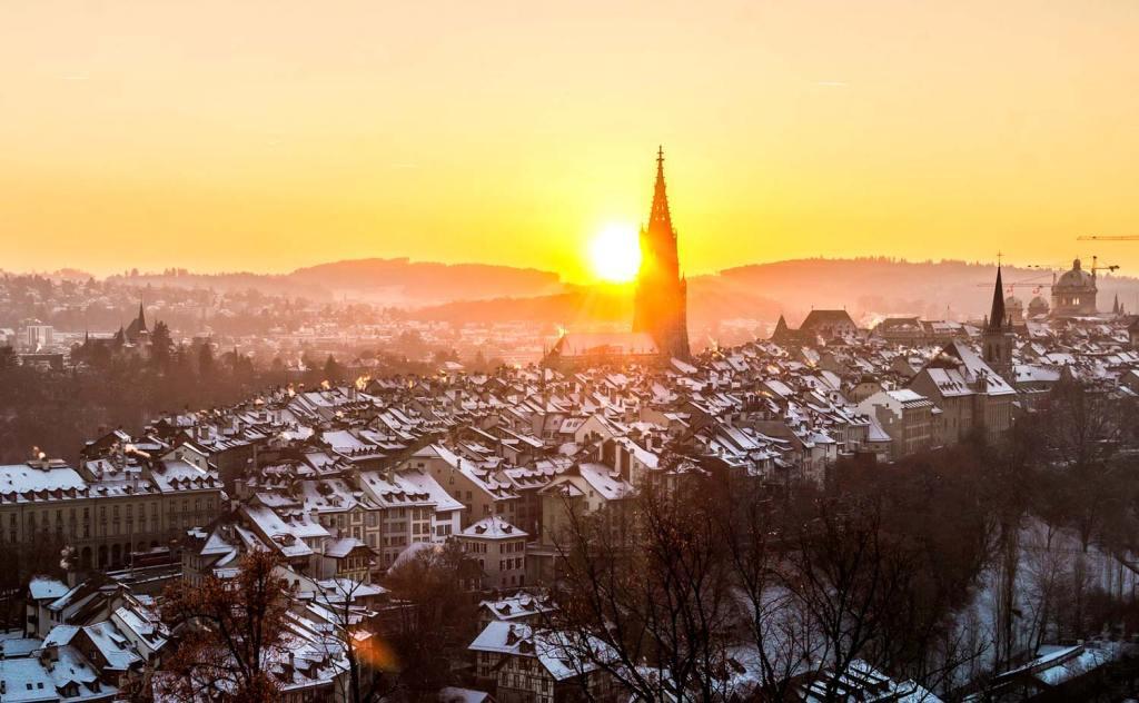 Bern in the snow