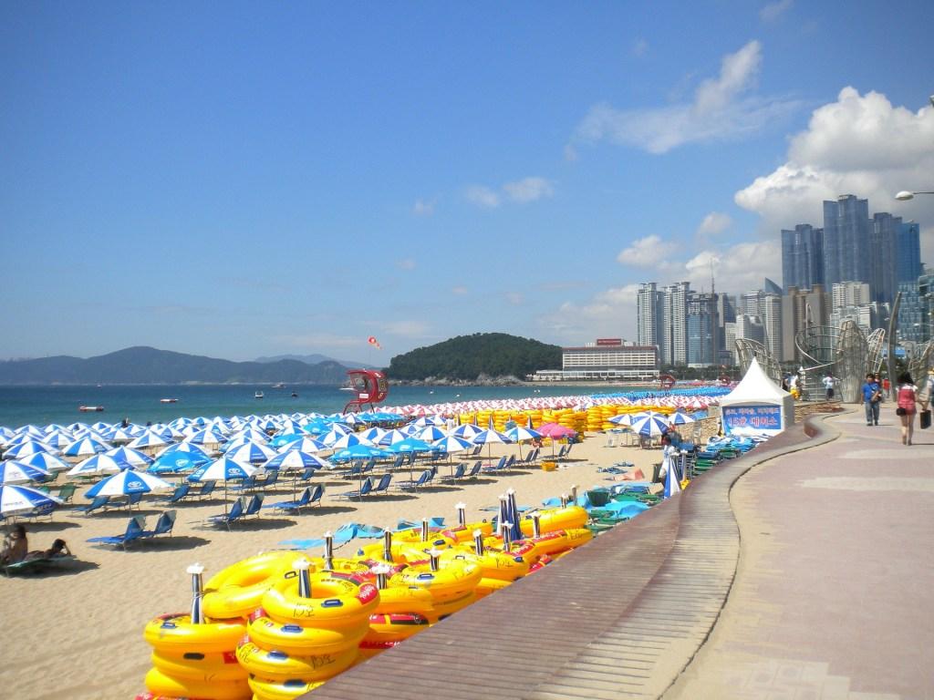 korea itinerary busan beach