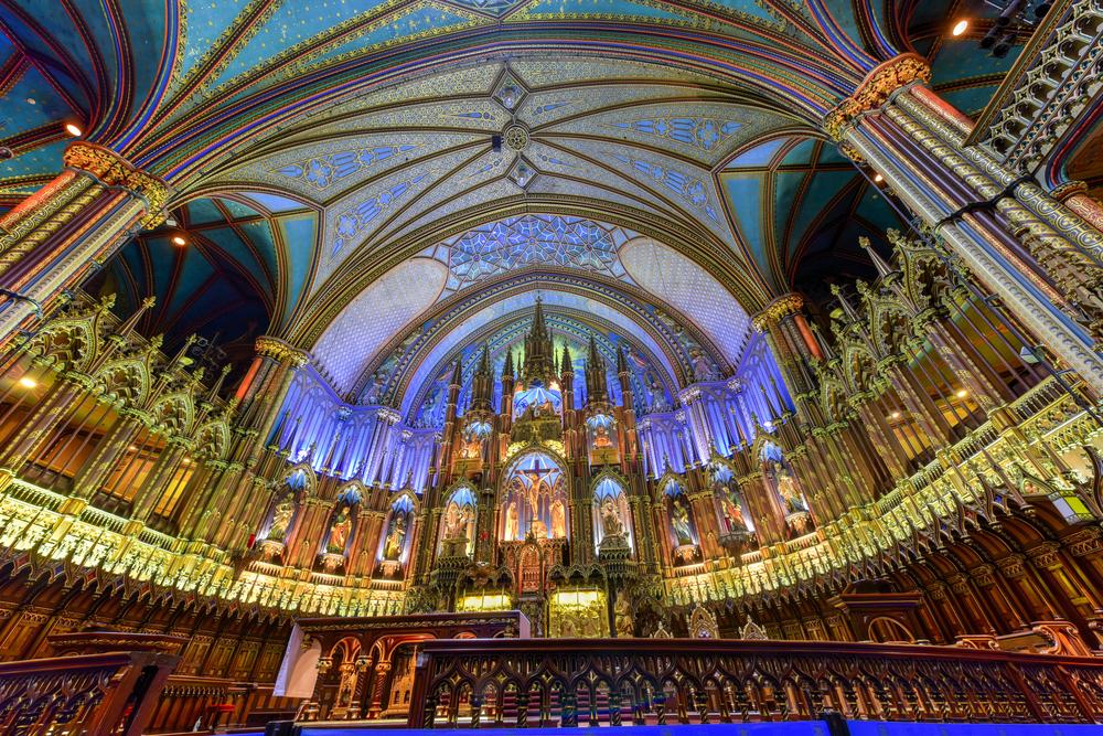 息をのむほど美しいモントリオール大聖堂