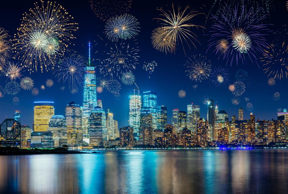 ニューヨーク カウントダウン 花火 マンハッタン NY, Countdown