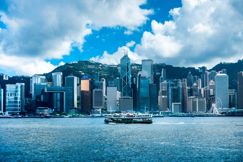 skyline of Hong Kong which is a great layover city