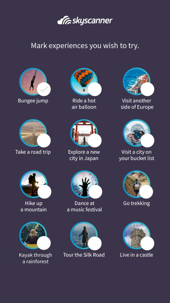 Skyscanner Travel Goals