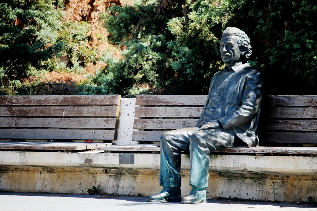 Estatua de Albert Einstein en Valladolid