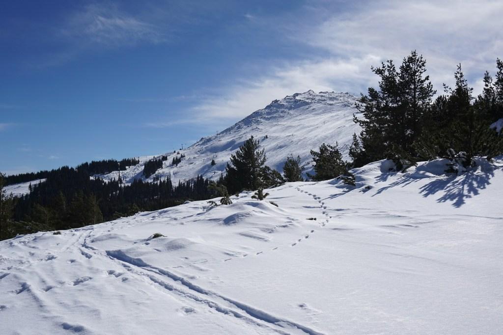 Οι χιονισμένες πλαγιές του όρους Vitosha κοντά στη Σόφια, Βουλγαρία