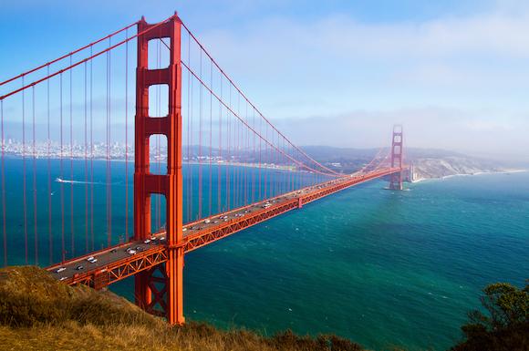 アメリカ サンフランシスコ 壮大なゴールデンゲートブリッジ