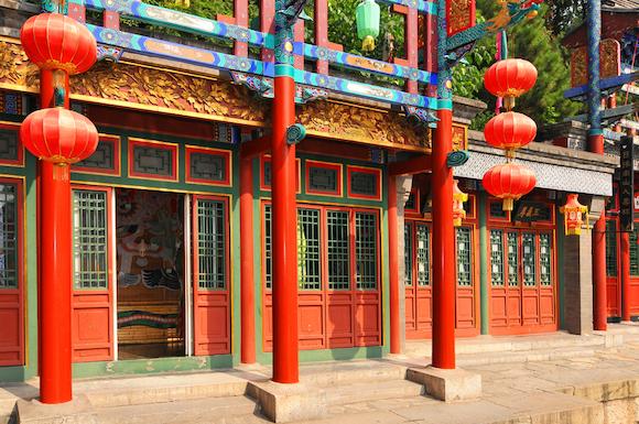 中国 極彩色の蘇州街