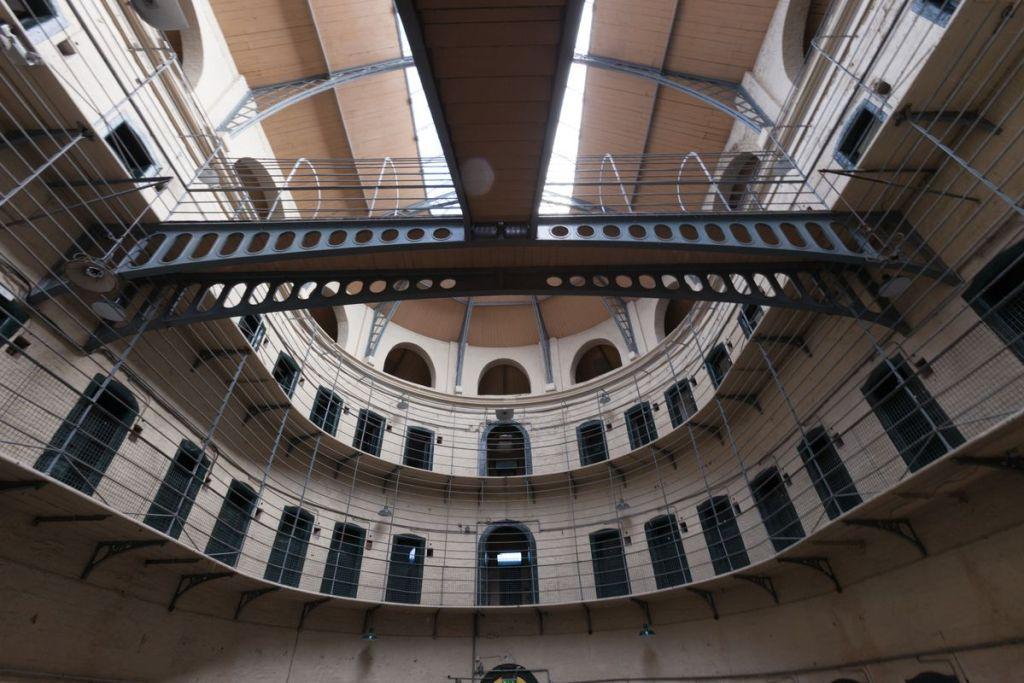 The stark interior of Kilmainham Gaol, Dublin, Ireland