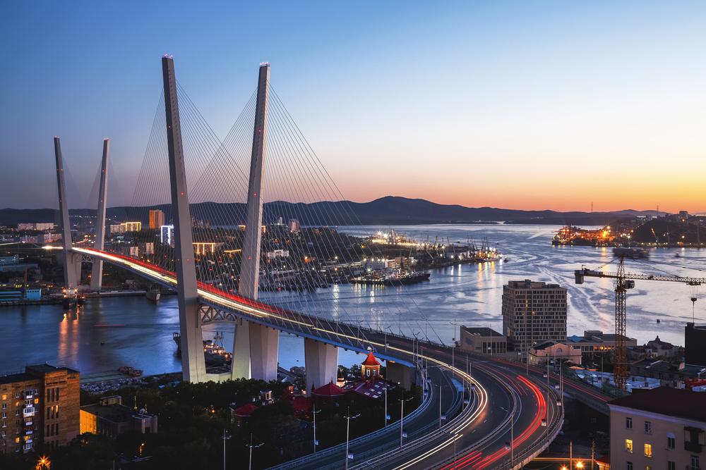 ロシア ウラジオストク 黄金橋