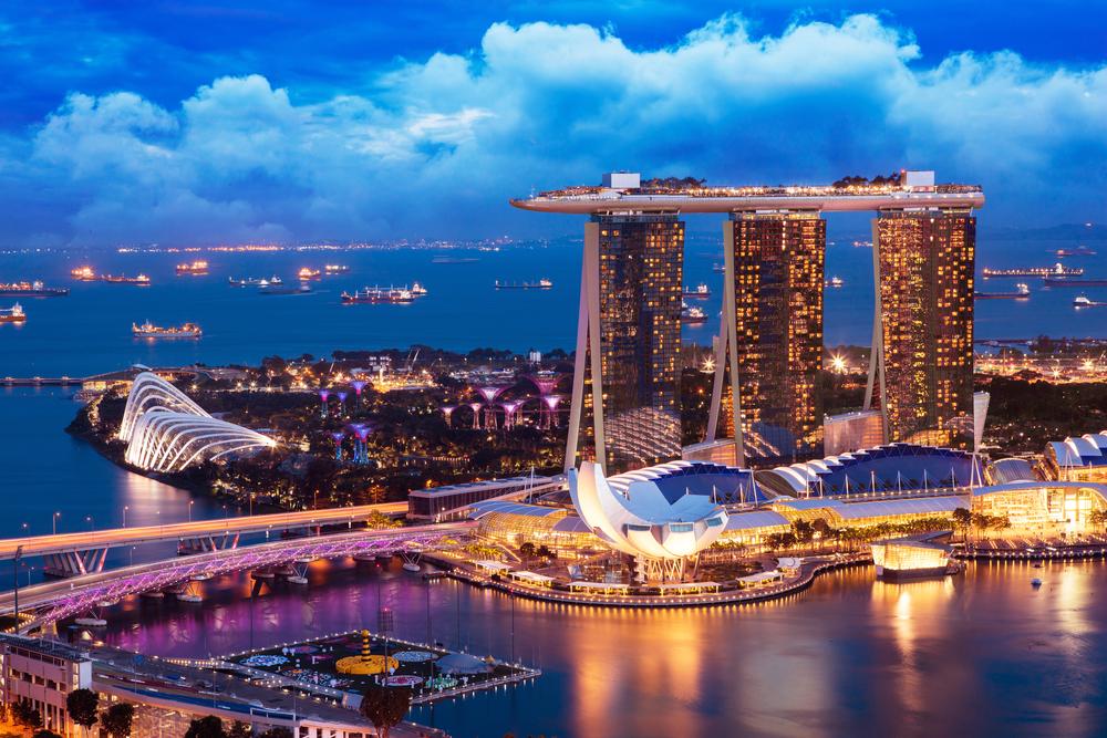 シンガポール 夜景 マリーナベイ・サンズ