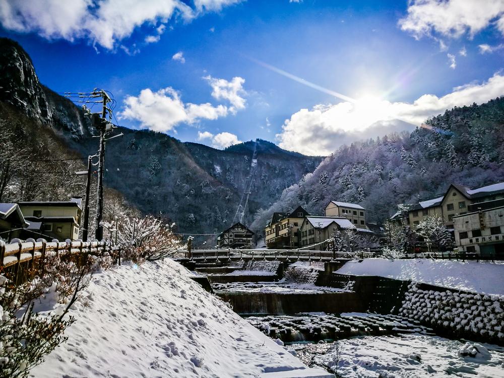 北海道 層雲峡温泉
