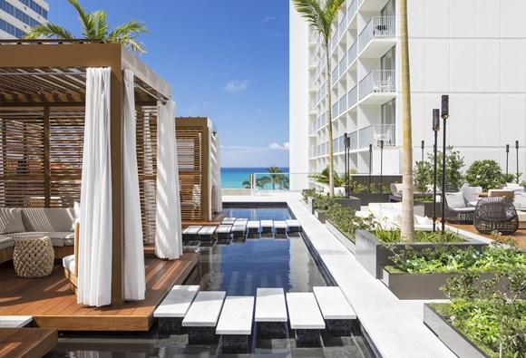 ハワイ アロヒラニ・リゾート・ワイキキ・ビーチ ビーチ沿いの開放的なロケーション