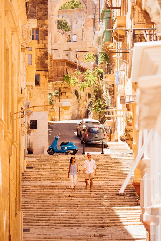 City Breakers exploring the streets of Valletta. Image credit: Visit Malta