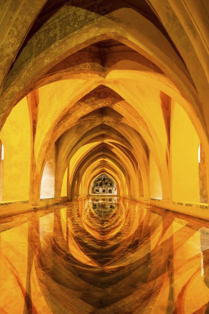 Arched passage in Alcazar, Seville