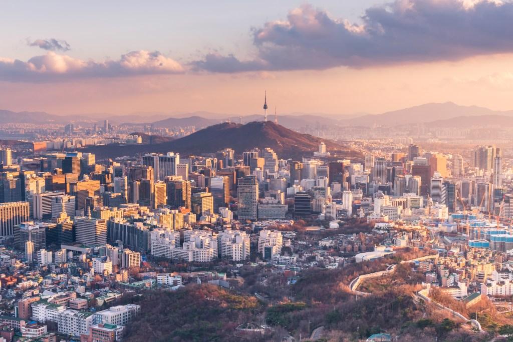 Панорама Сеула в Южной Корее