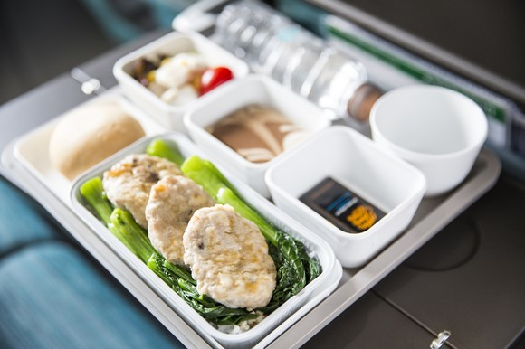 キャセイパシフィック航空 エコノミークラス機内食(イメージ)
