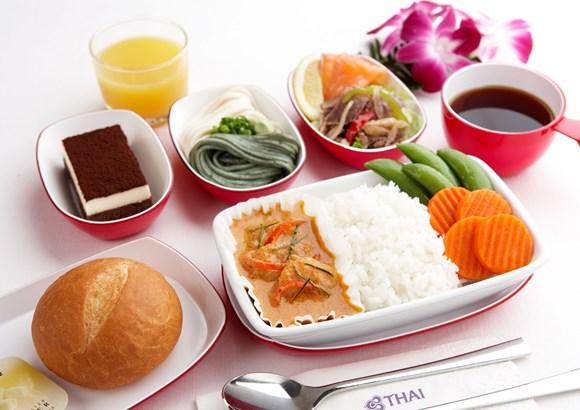 タイ航空(日本-タイ線)機内食 一番人気のタイカレー