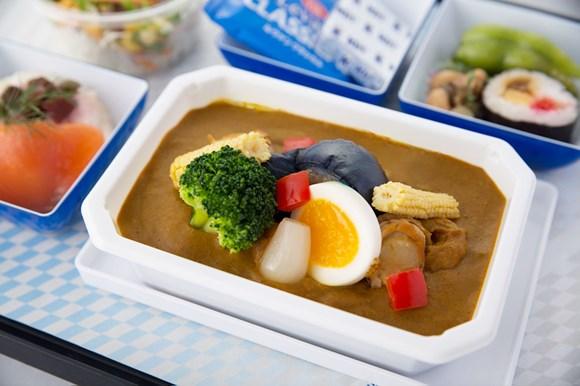 ANA 機内食 岡山県 牡蠣醤油のシーフードカレー