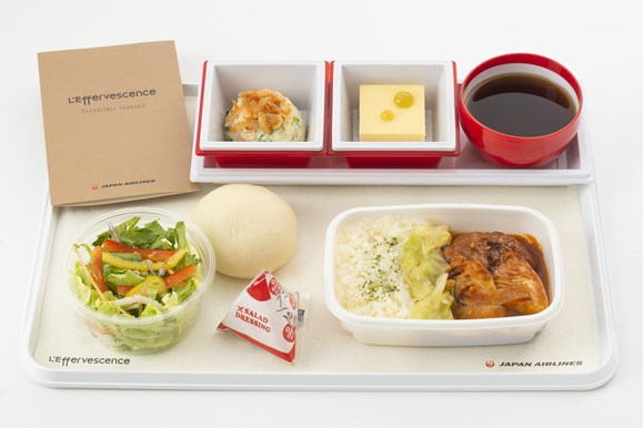 JAL(成田-ハワイ線)機内食 生江史伸氏監修の特別メニュー