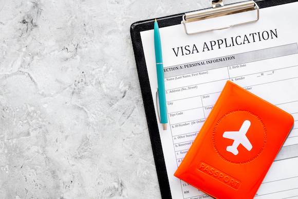 ビザの申請