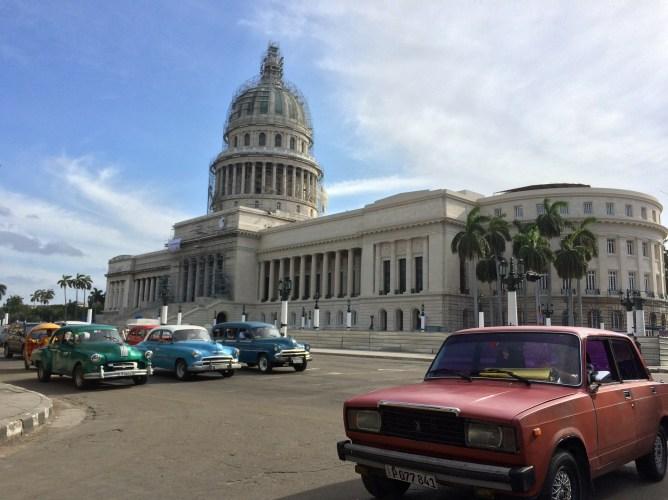キューバの首都ハバナの風景