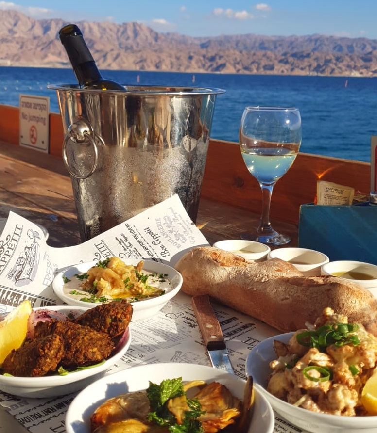 Barbeach. Offers one of the best views in Eilat