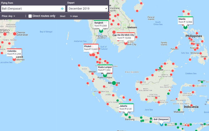 Flight route map - All Airlines - Skyscanner India