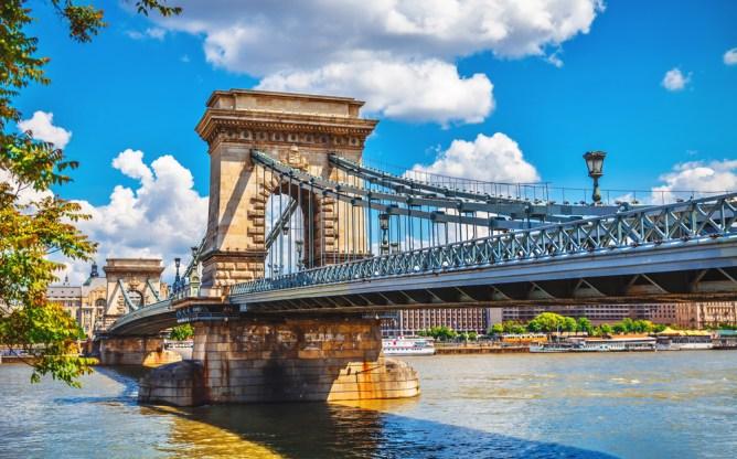 ブダペスト(ハンガリー)セーチェーニ鎖橋